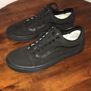 Vans Black Canvas Shoes US Size Men's 10